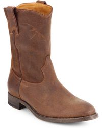 Ralph Lauren Collection Marlow Suede Western Boots - Lyst