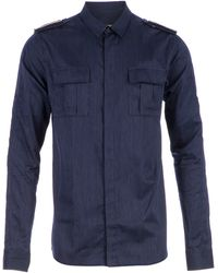Balmain W3ht113b58 Navy Cotton - Lyst