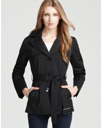 Ellen Tracy - Belted Mini Trench - Lyst