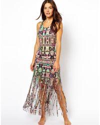MINKPINK Ashram Fringed Maxi Dress - Lyst
