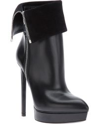 Saint Laurent Foldover Stiletto Boot - Lyst