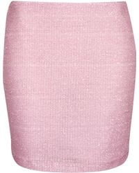 Topshop Coord Pale Pink Fluffy Mini - Lyst