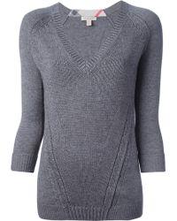 Burberry Brit Vneck Sweater - Lyst