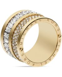 Michael Kors Pave Baguette Barrel Ring - Lyst