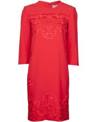 Preen By Thornton Bregazzi Embroidered Dress - Lyst