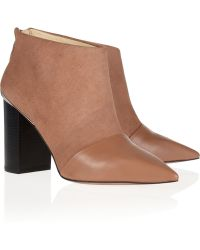 See By Chloé Suede and Leather Ankle Boots - Lyst