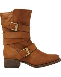 Steve Madden Brewzer Leather Ankle Boots Tanleather - Lyst