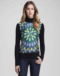 Tory Burch Wren Sweater with Front Scarab Panel - Lyst