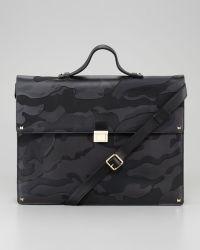 Valentino - Rockstud Camo Briefcase - Lyst