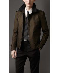 Burberry Cashmere Detail Harrington Jacket - Lyst