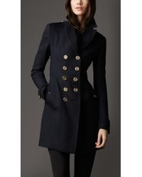 Burberry Virgin Wool Blend Pea Coat - Lyst