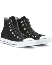 Converse Chuck Taylor All Star Shearlinglined Suede Hightop Sneakers - Lyst