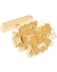Lara Bohinc   Pyramid Gold Plated Cufflinks   Lyst
