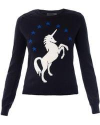 Lulu & Co Unicorn Intarsiaknit Sweater - Lyst