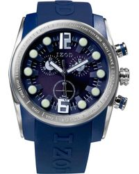 Izod - Izod Watch Unisex Chronograph Sport Blue Rubber Strap 48mm Izs24blue - Lyst