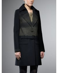 Patrizia Pepe Coat Woolen Cloth with Embroidered Fabric - Lyst