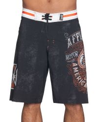Affliction - Death Spade Board Shorts - Lyst