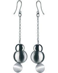 Breil - Stainless Steel Adjustable Bead Earrings - Lyst