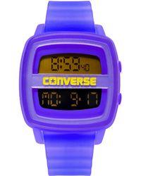 Converse | Unisex Digital Remix Blue Translucent Plastic Strap 43mm Vr028425 | Lyst