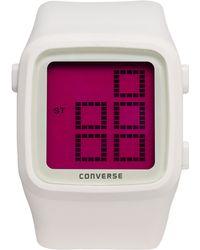 Converse - Unisex Digital Scoreboard White Silicone Strap 43mm Vr002105 - Lyst