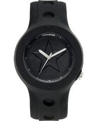 Converse | Unisex Rookie Black Silicone Strap 43mm Vr001001 | Lyst