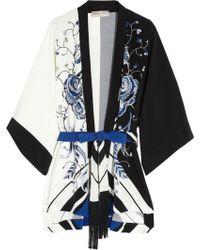 Emilio Pucci - Printed Silk Crepe De Chine Robe - Lyst