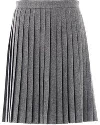 Freda Bella Wool Pleated Skirt - Lyst
