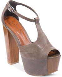 Jessica Simpson Danie Platform Sandals - Lyst