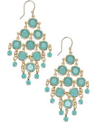Kate Spade Goldtone Mint Stone Chandelier Earrings - Lyst