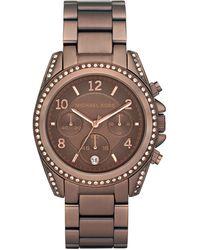 Michael Kors Womens Chronograph Blair Bronze Tone Stainless Steel Bracelet 39mm - Lyst