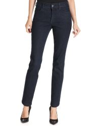 Not Your Daughter's Jeans Nydj Petite Jeans Marilyn Straight Blue Black Wash - Lyst