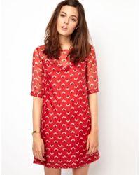 Orla Kiely - Posey Print 60s Mini Dress in Organza - Lyst