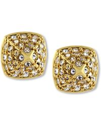 Vince Camuto - Goldtone Crystal Pave Small Rounded Pyramid Stud Earrings - Lyst