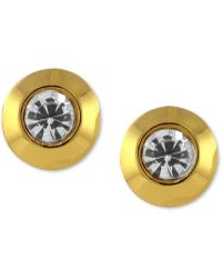 Vince Camuto - Gold-tone Crystal Stud Earrings - Lyst