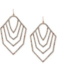Vince Camuto - Glass Crystal Pave Drop Earrings - Lyst
