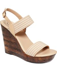 Callisto Laura Platform Wedge Sandals - Lyst