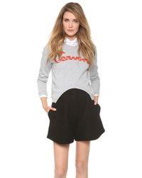 Carven - Cutout Sweatshirt - Lyst