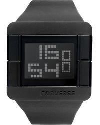 Converse | Unisex Digital High Score Black Silicone Strap 47mm Vr014005 | Lyst