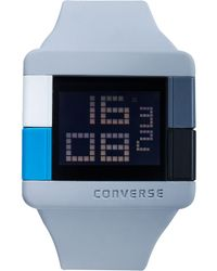 Converse | Unisex Digital High Score Gray Silicone Strap 47mm Vr014080 | Lyst