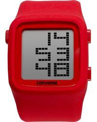 Converse | Unisex Digital Scoreboard Red Silicone Strap 43mm Vr002650 | Lyst