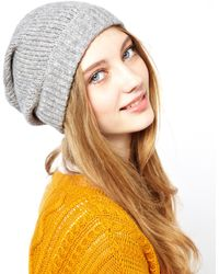 Ganni - Tricolore Round Wool Mix Hat - Lyst