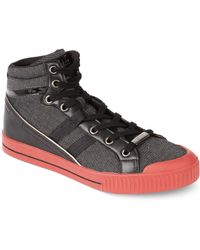 Guess Christian Hi Top Sneakers - Lyst