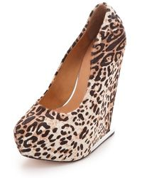 L.A.M.B. - Dorothee Haircalf Wedges - Lyst