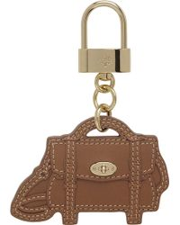 Mulberry Alexa Bag Leather Key Ring brown - Lyst