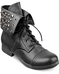 Pink And Pepper - Conquest Studded Booties - Lyst