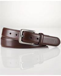 Polo Ralph Lauren Edge-Stitched Leather Belt - Lyst