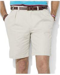 Ralph Lauren Vintage Chino Pleated Tyler Shorts - Lyst