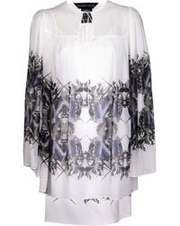 Thomas Wylde Abstract Feather Print Tunic - Lyst