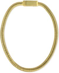 Vince Camuto - Gold-tone Snake Chain Collar Necklace - Lyst