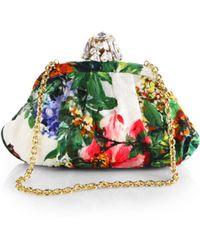 Dolce & Gabbana Floral Brocade Clutch - Lyst